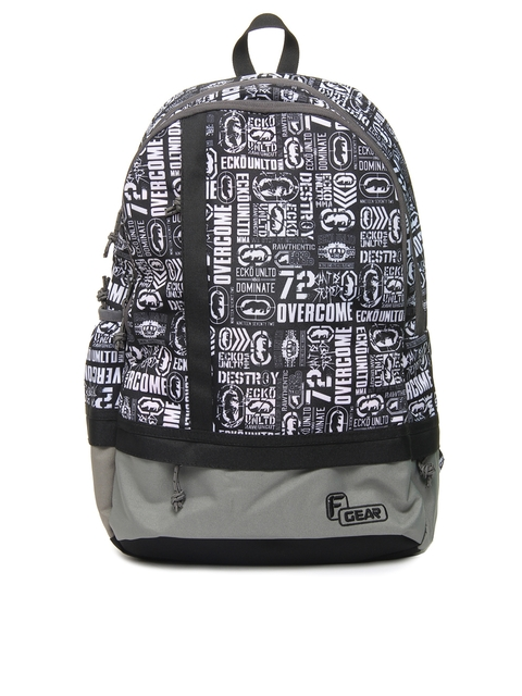 F Gear Unisex Casual Black Printed Backpack