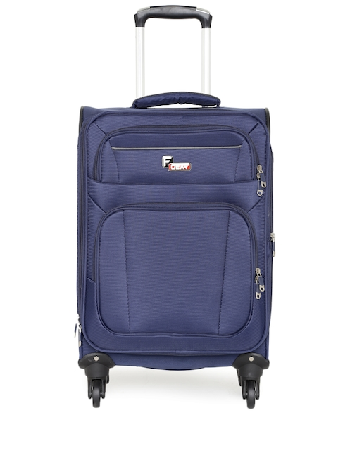 F Gear Unisex Navy Cabinet Spinner Small Trolley Bag