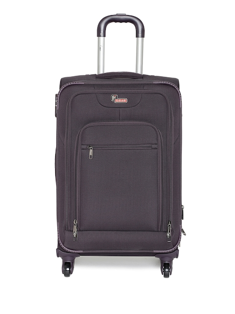 F Gear Unisex Grey Dollar Small Trolley Bag