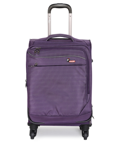 F Gear Unisex Purple Dollar Small Trolley Bag