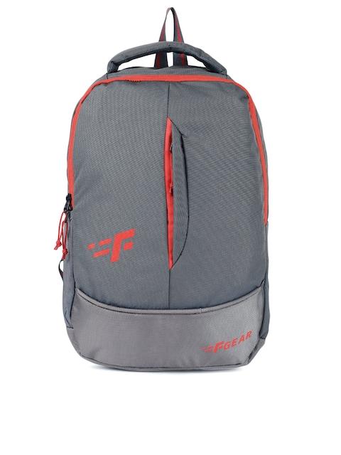 F Gear Unisex Grey Solid Ferrari Laptop Backpack
