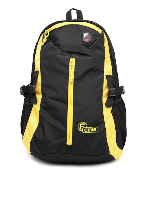 F Gear Unisex Black & Yellow Slog V2 Backpack
