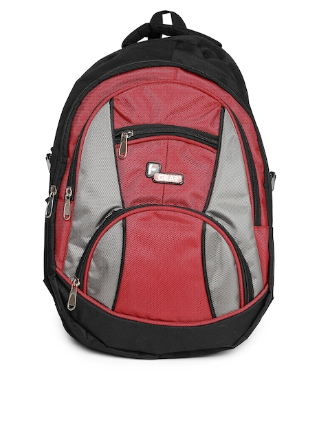 F Gear Unisex Black & Red Midus Backpack