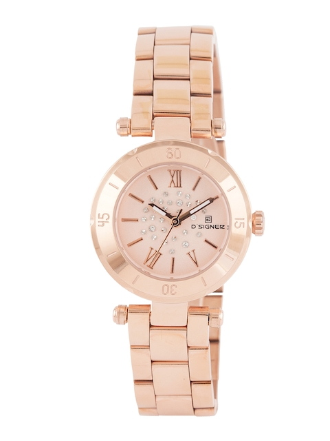Dsigner Women Rose Gold-Toned Dial Watch 667RGM