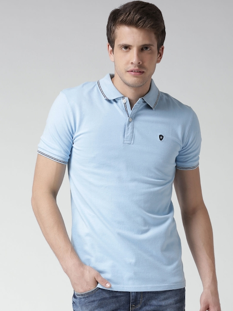 Celio Powder Blue Polo T-shirt  available at myntra for Rs.779