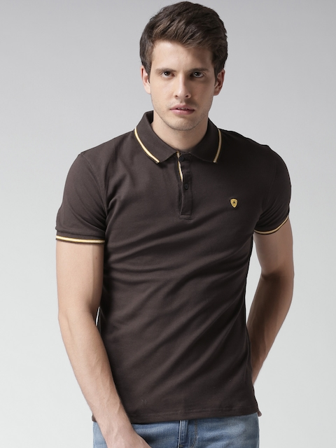 Celio Brown Polo T-shirt  available at myntra for Rs.779