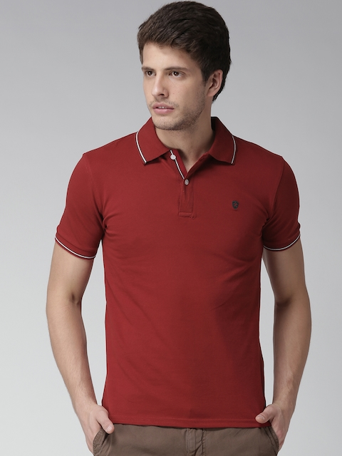 Celio Maroon Polo T-shirt  available at myntra for Rs.779