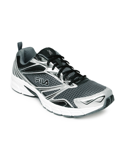 FILA Men Black & Silver-Toned Royalty Running Shoes  available at myntra for Rs.3429