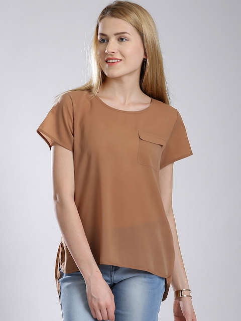 French Connection Brown High-Low Top