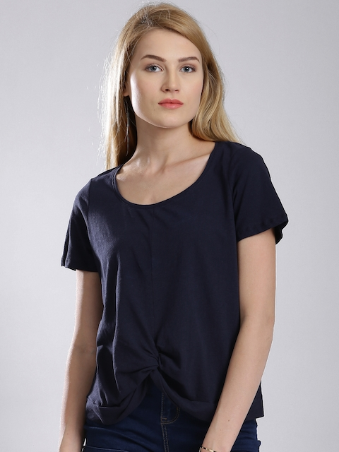 French Connection Navy Knotted T-shirt