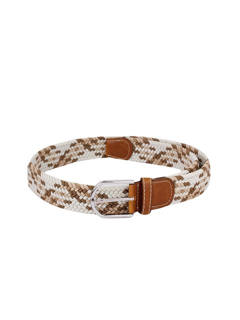 Alvaro Castagnino Men White & Brown Belt