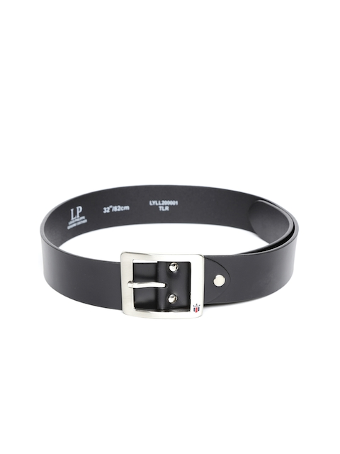 Louis Philippe Men Black Genuine Leather Belt