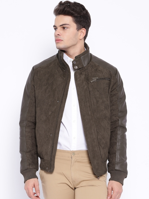 Harvard Brown Quilted Bomber Jacket