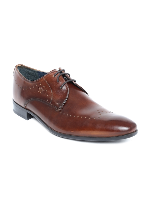 Louis Philippe Men Brown Genuine Leather Formal Shoes