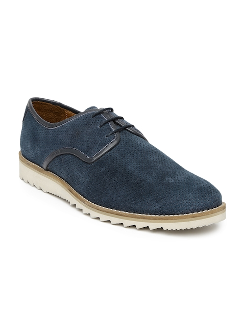 Louis Philippe Men Navy Suede Casual Shoes