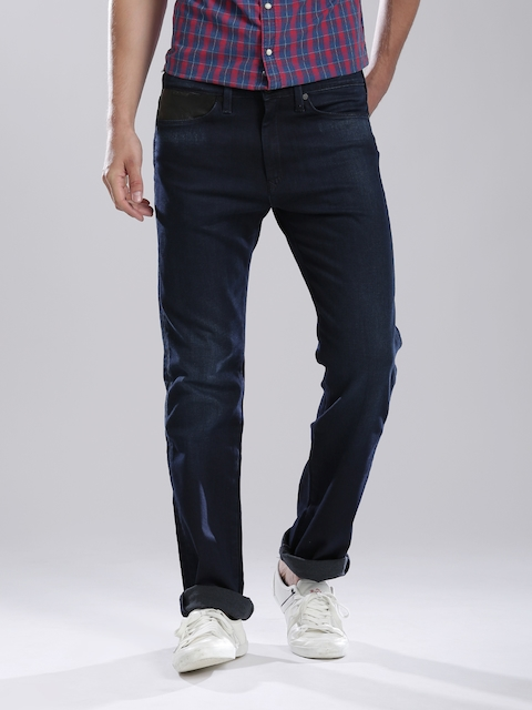 Levi's Navy Slim Straight 513 Stretchable Jeans  available at myntra for Rs.2745