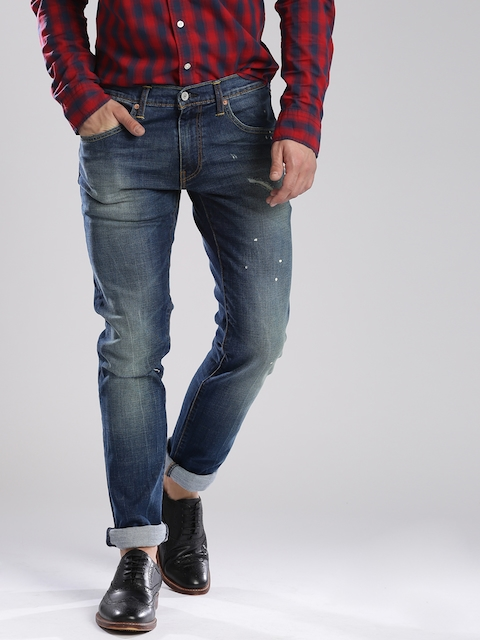 Levi's Blue Skinny Straight Fit 65504 Stretchable Jeans
