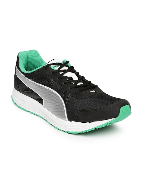 PUMA Men Black & Silver-Toned Modify DP Running Shoes
