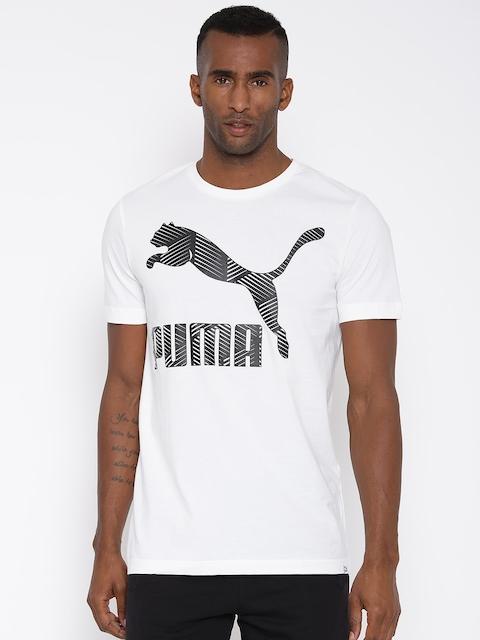 Puma Off-White Printed T-shirt
