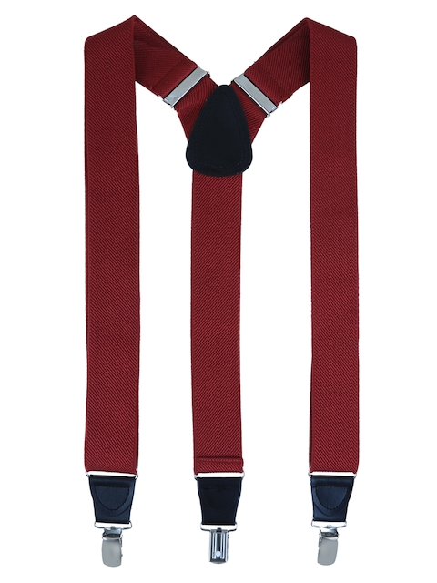 Alvaro Castagnino Men Maroon Suspenders