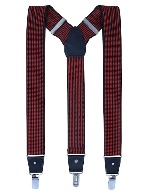 Alvaro Castagnino Men Red Striped Suspenders
