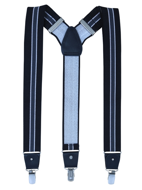 Alvaro Castagnino Men Blue Striped Suspenders
