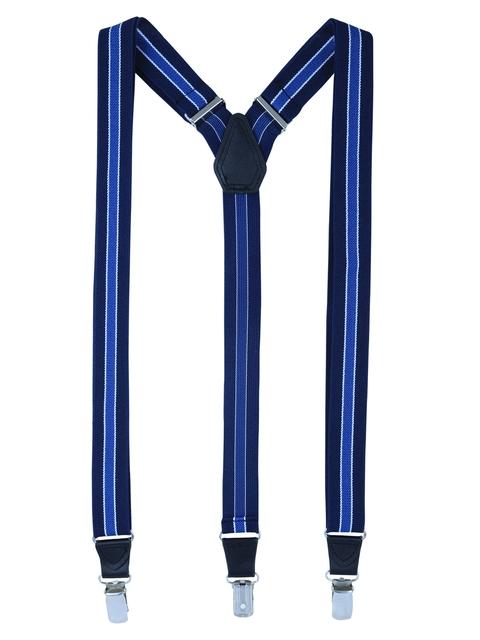 Alvaro Castagnino Men Blue Striped Suspenders