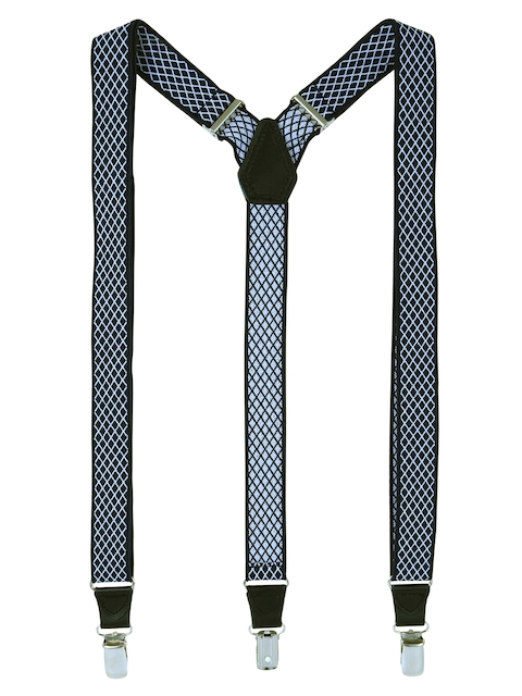 Alvaro Castagnino Men Blue Checked Suspenders
