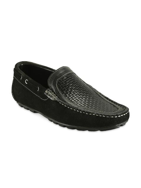 bacca bucci Men Black Genuine Leather Loafers