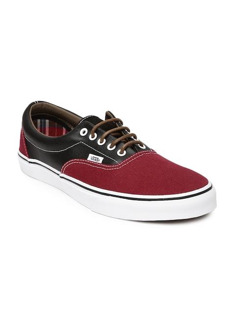 Vans Men Maroon & Black Era Casual Shoes