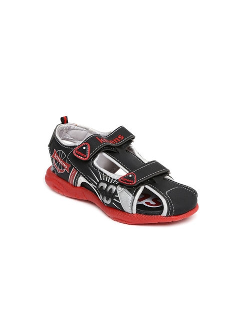 Kittens Boys Black Sandals