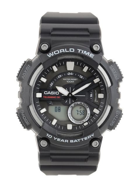 Casio Youth Combination Men Black Analogue-Digital Watches (AD207) AEQ-110W-1AVDF
