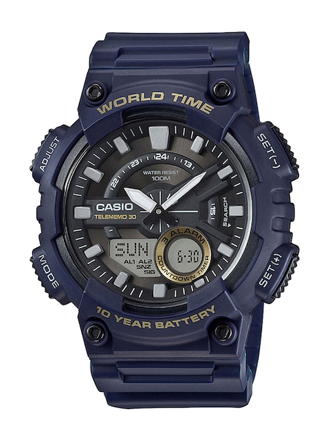 Casio Youth Combination Men Blue Analogue & Digital Watch AD208