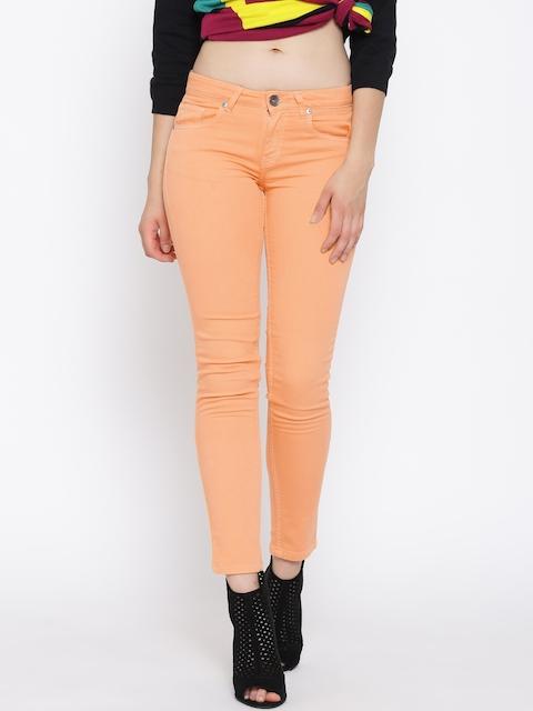 United Colors of Benetton Peach-Coloured Slim Jeans