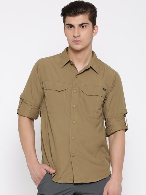 Columbia Men Brown Silver Ridge Long Sleeve Casual Shirt