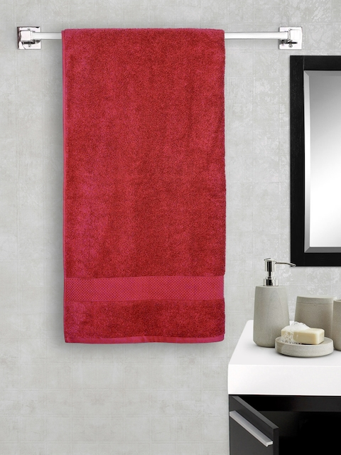 Portico New York Red Cotton Bath Towel