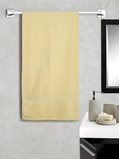 Portico New York Light Yellow Cotton Super Absorbent Bath Towel