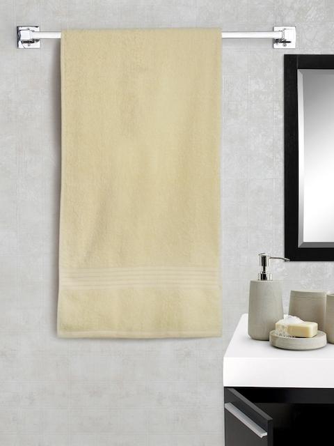 Portico New York Cream-Coloured Cotton Super Absorbent Bath Towel