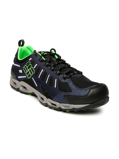 Columbia Men Navy Blue Ventfreak Hiking Shoes