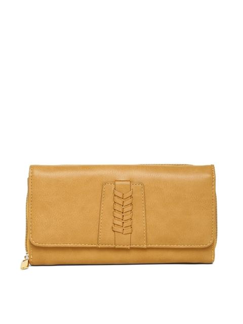 Allen Solly Women Mustard Yellow Wallet