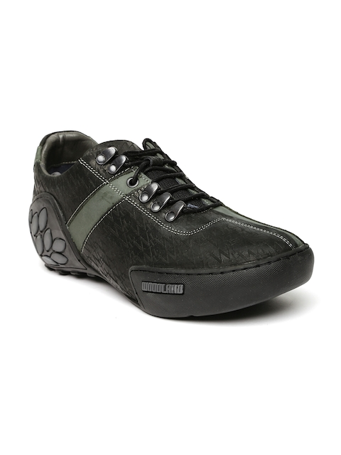 Woodland Men Black Leather Casual Shoes
