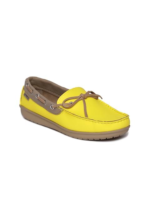 Crocs Women Yellow Boat Shoes