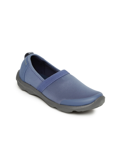 Crocs Women Blue Duet Busy Day Slip-Ons