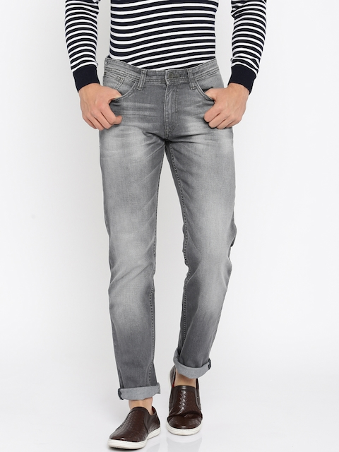 Allen Solly Men Grey Slim Fit Low-Rise Clean Look Jeans