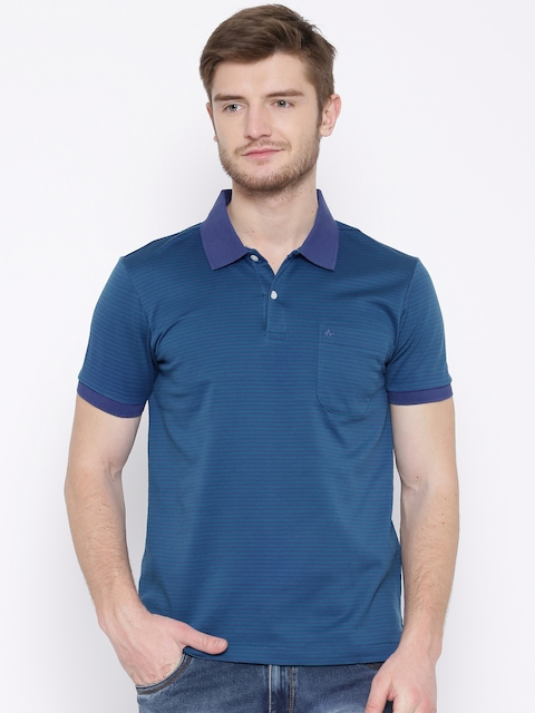Arrow Purple & Green Striped Polo T-shirt