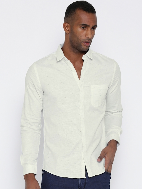 45bfa95fe5 United Colors of Benetton Off-White Casual Shirt
