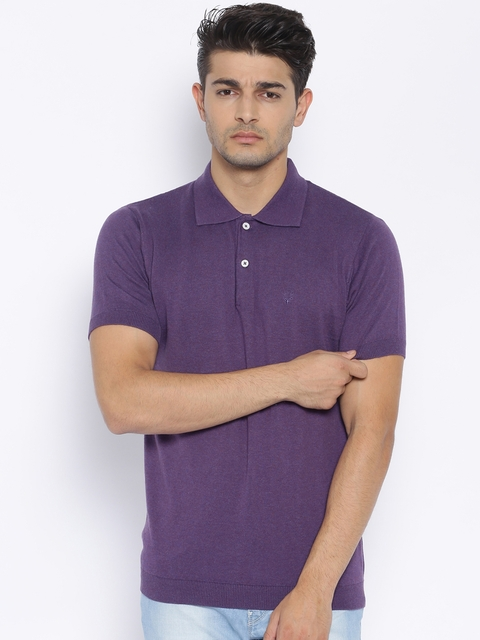 Allen Solly Purple Polo T-shirt