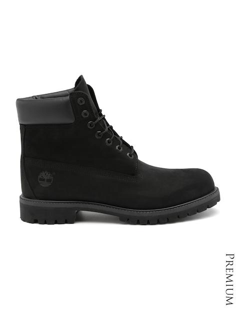 Timberland Men Black Leather Waterproof Hiking Boots