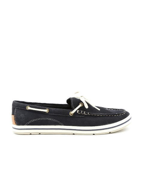 Timberland Women Navy Suede Cascobay Boat Shoes