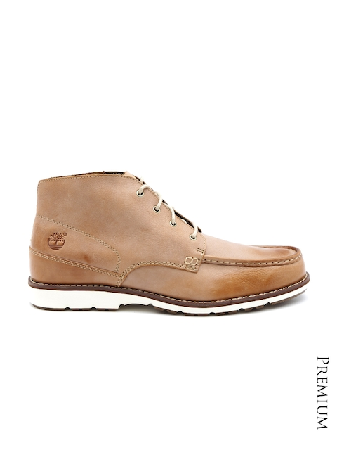 Timberland Men Brown Two-Toned Leather Boots
